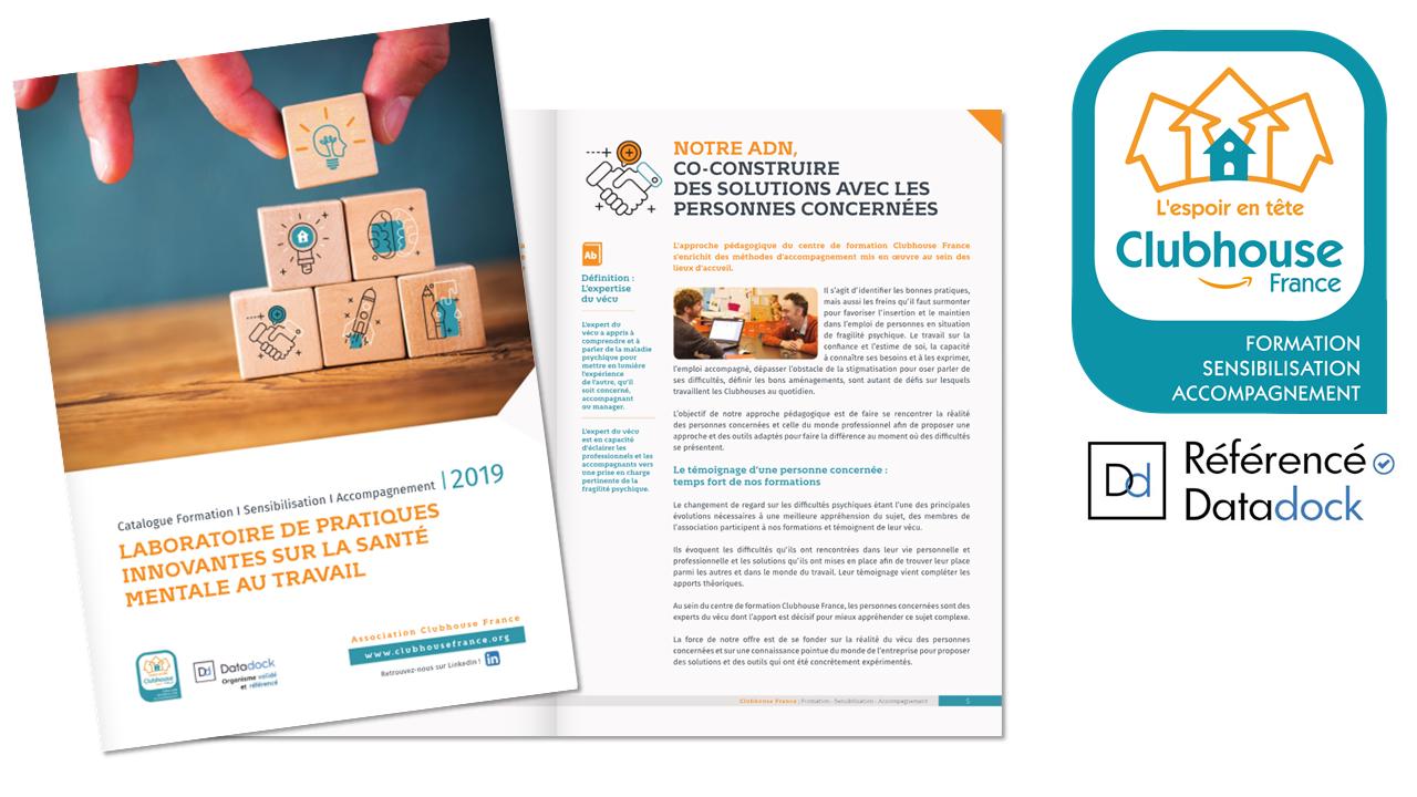 Le catalogue de formation Clubhouse France pour l'année 2019