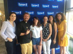 Céline Aimetti avec les autres participants à l'émission la France des solutions du 10 août 2019