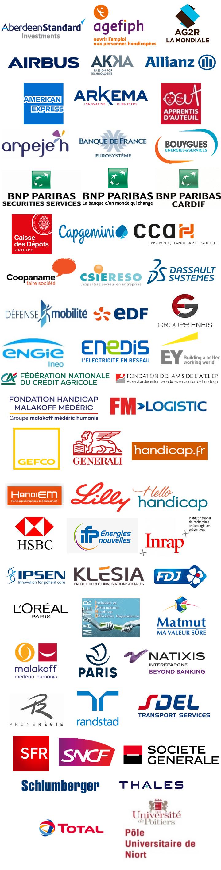 Mosaïque logos des partenaires de confiance du pôle formation de Clubhouse France