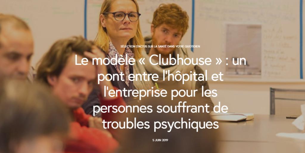 Visuel de l'article France Assos Santé sur le Clubhouse Paris