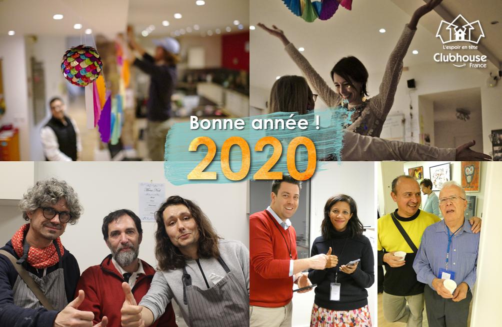 Bonne année 2020 de la part de Clubhouse France