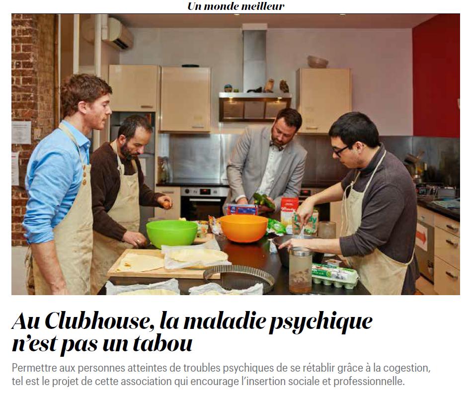 Les membres du Clubhouse Paris en cogestion pour le repas du jour.
