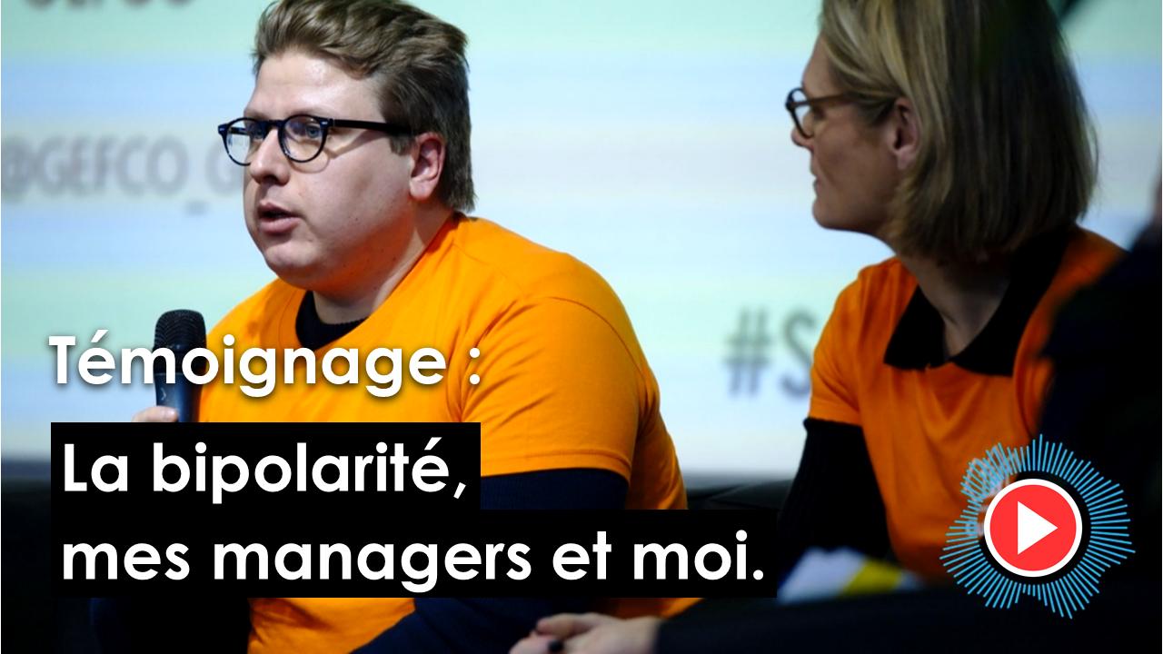 """Découvrez le témoignage de Thibault lors du colloque """"Dialogue sur la Santé Mentale dans les Organisations"""""""