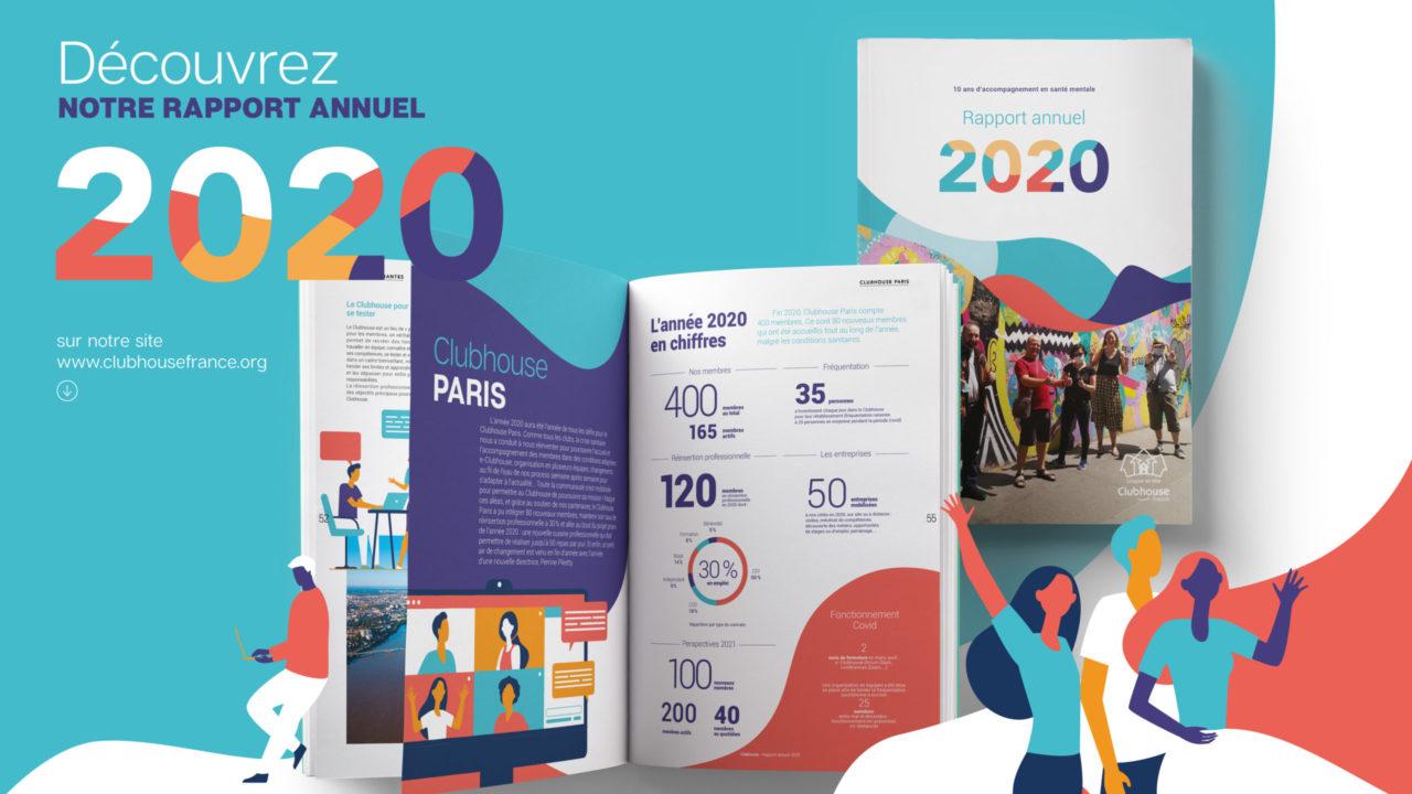 Découvrez le rapport annuel 2020 de l'association Clubhouse France