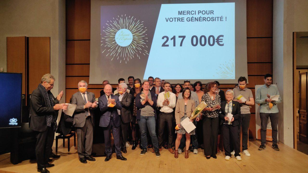 L'équipe du Clubhouse Lyon lors de la Soirée de l'Espoir 2021